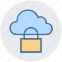 cloud, cloud access, cloud lock, cloud security, lock, protection, security icon