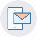 cell, email, envelope, letter, mobile, network, phone icon