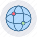 connection, earth, globe, internet, network, technology, world icon
