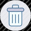 cleaning bin, delete, dust bin, dustbin, recycle bin, trash, trash bin icon