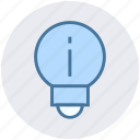 bulb, bulb light, lamp, light, network, warning icon