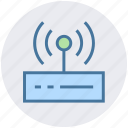device, internet, modem, network, router, wifi router, wifi signals icon