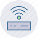 device, modem, router, signals, technology, wifi, wifi router icon