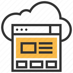 cloud, control, data, file, page, panel, storage icon
