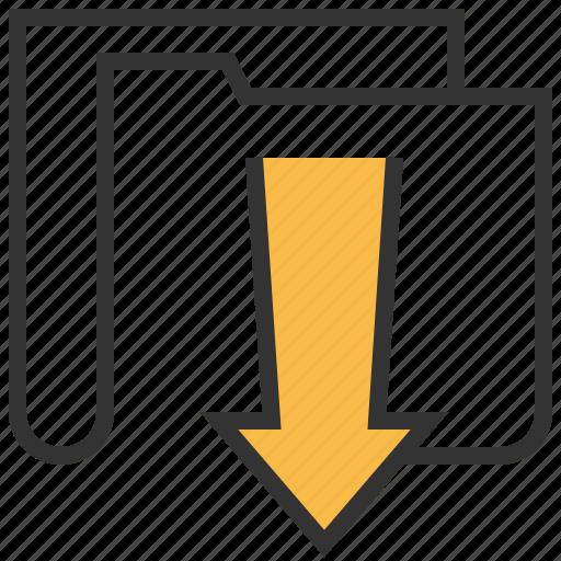 document, download, file, folder icon