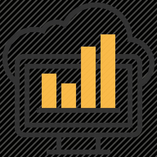 analysis, chart, data, graph, network icon