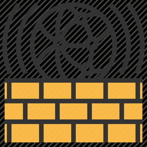 communication, firewall, internet, network icon