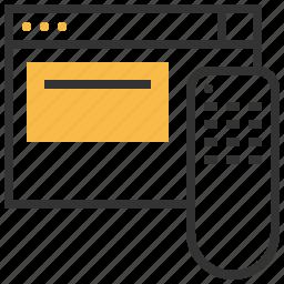 access, key, page, remote icon