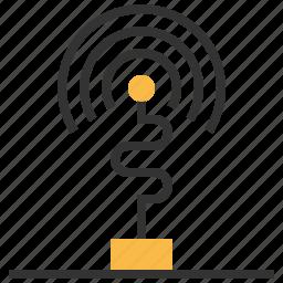 antenna, connection, internet, network, wifi, wireless icon