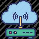 cloud computing, cloud internet, cloud network, cloud wifi, wifi zone icon