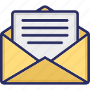 email, inbox, message envelope, new message, received message icon