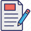 agreement, content, contract, document, paper document icon