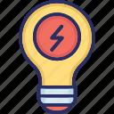 bright idea, creative idea, idea symbol, innovation, light bulb icon