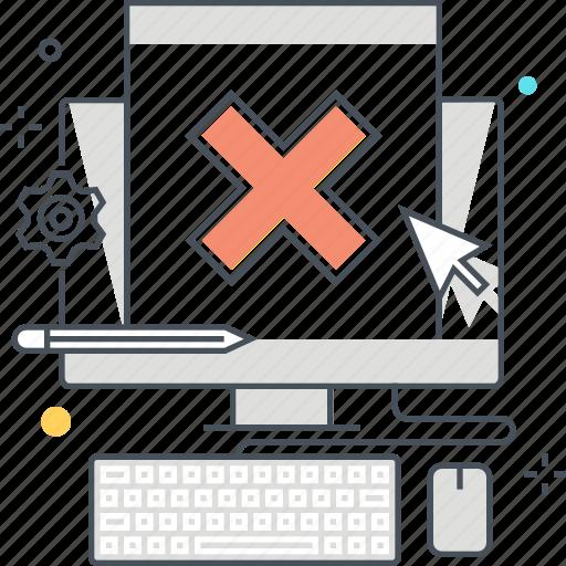 browser, computer, error, internet, warning, website icon