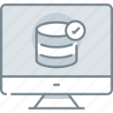 check, computer, data, database, storagetechnology icon