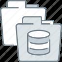 data, database, folder, management, storage icon