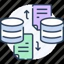data, database, exchange, file, storage, transfer icon