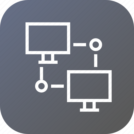 computer, connection, internet, network, networking, nodes, system icon