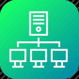 hosting, network, networking, server, servers, web, workstation icon