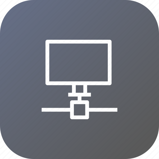 computer, network, networking, on, shared, sharing icon