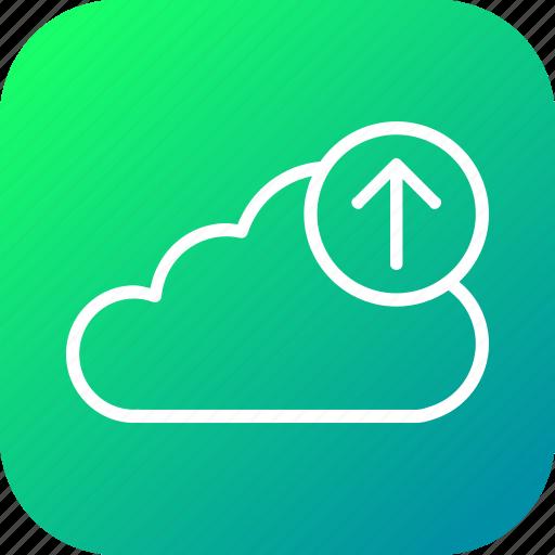 backup, cloud, data, file, ftp, upload, uploading icon