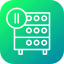 databse, hosting, media, pause, rack, server, video icon
