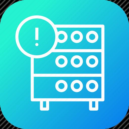 databse, help, hosting, info, information, rack, server icon