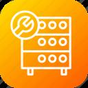 databse, hosting, optimization, rack, server, settings, wrench