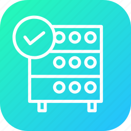 authenticated, connection, databse, established, hosting, rack, server icon