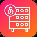 databse, hosting, lock, rack, secure, security, server
