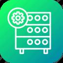 databse, hosting, optimization, rack, server, settings, wheel