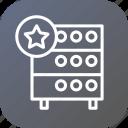 star, like, favorite, hosting, server, rack, databse