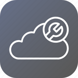 cloud, data, optimization, server, settings, storage, wrench icon