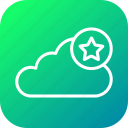 cloud, data, favorite, online, server, star, storage
