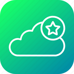 cloud, data, favorite, online, server, star, storage icon
