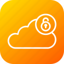 cloud, data, online, security, server, storage, unlock