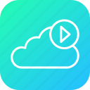 audio, cloud, media, play, soundcloud, streaming, video icon