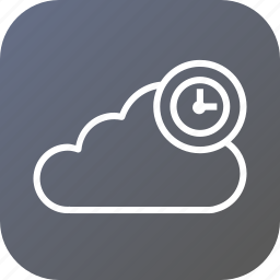clock, cloud, data, reminder, storage, timestamp icon
