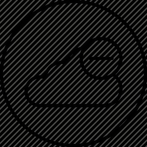cloud, data, online, remove, server, storage icon