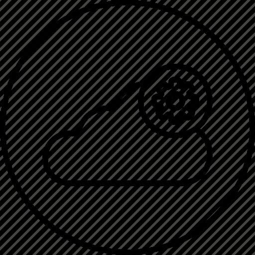 cloud, data, gear, optimization, server, settings, storage icon