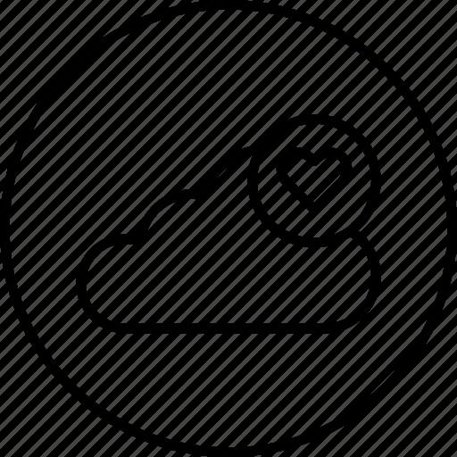 cloud, data, favorite, like, server, storage icon