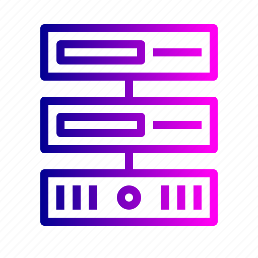 center, data, database, hosting, rack, series, server icon