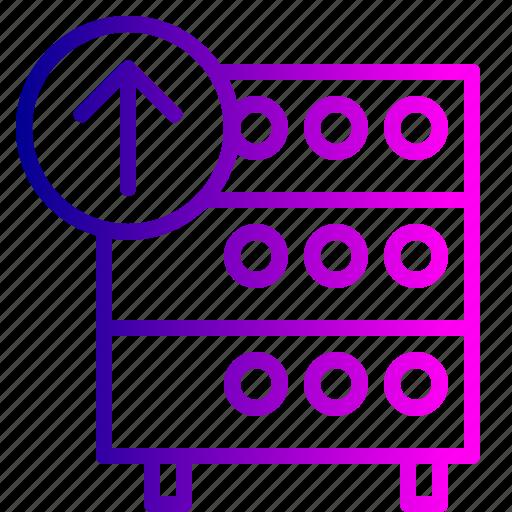 databse, hosting, rack, server icon
