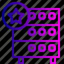 databse, favorite, hosting, like, rack, server, star