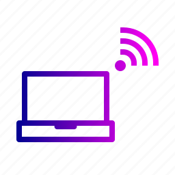 connection, device, laptop, network, wifi, wireless icon