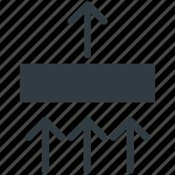 arrows, arrows direction, arrows pointing, upload sign, upward arrows icon