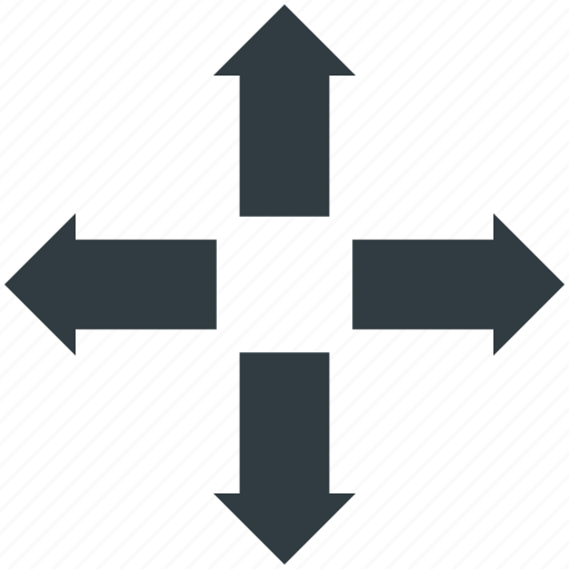 arrows, enlarge, expand, extend, re-size icon
