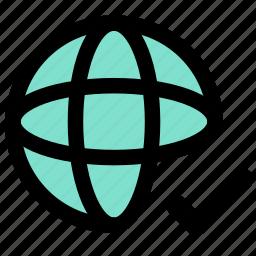 connection, globe, internet, network, seo icon