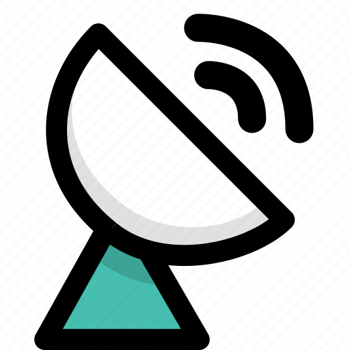 internet, network, satellite receiver icon