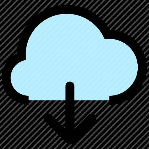 cloud, download, storage icon